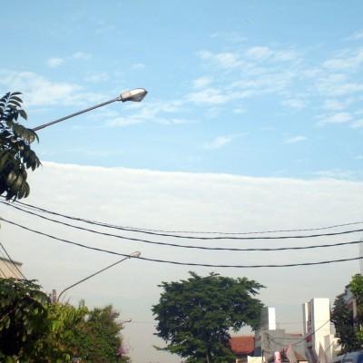 Foto awan lurus - jalan Pajajaran, Bandung