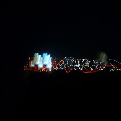 Perjalanan malam 1 foto 2 - cahaya abstrak