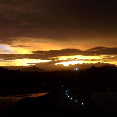 Pemandangan langit senja Pemkot Cimahi 2