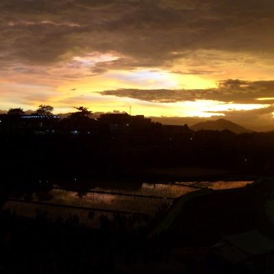 Pemandangan langit senja Pemkot Cimahi 7