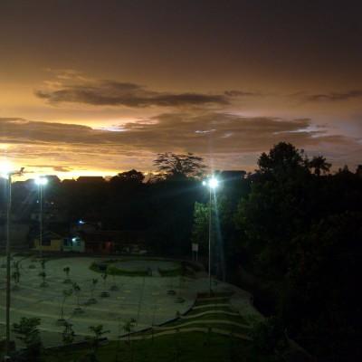 Pemandangan langit senja Pemkot Cimahi 8