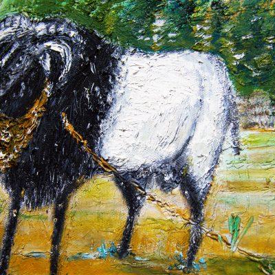 Gaya guratan kuas lukisan domba (Tjetjep Subarnas, 2010)